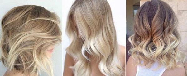 Балаяж с холодным подтоном на русых волосах