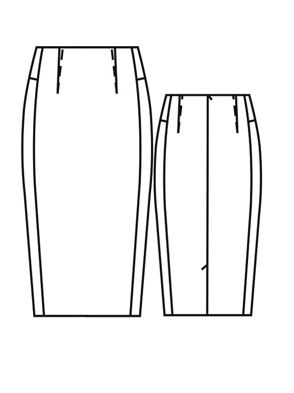 Юбка прямые с рельефными швами